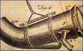 Primer traje buceo de John Lethbridge, el primer traje de buceo cerrado, construido en la década de 1710.